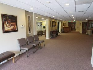 The front of the lobby