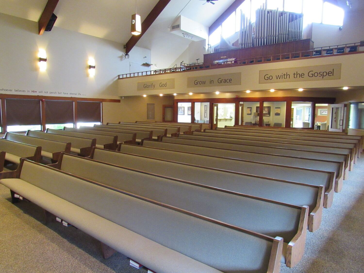 The back of the sanctuary